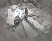 Le frère de Scar lui transmute son propre bras et ses yeux, donnant sa vie pour sauver celle de son frère
