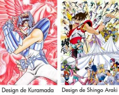Comparaison du desgin Kuramata et Shingo Araki sur Saint Seiya)
