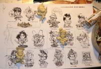 Figurines SD, les croquis sont aussi fait par Shin-ichiro Natsusaka