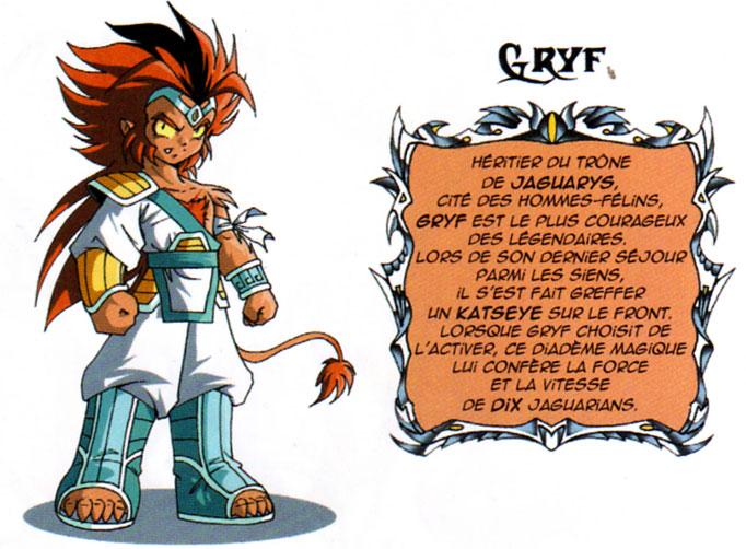 Design de Gryf à partir du tome 11