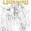 Croquis de recherche de couverture du tome 4 des Légendaires