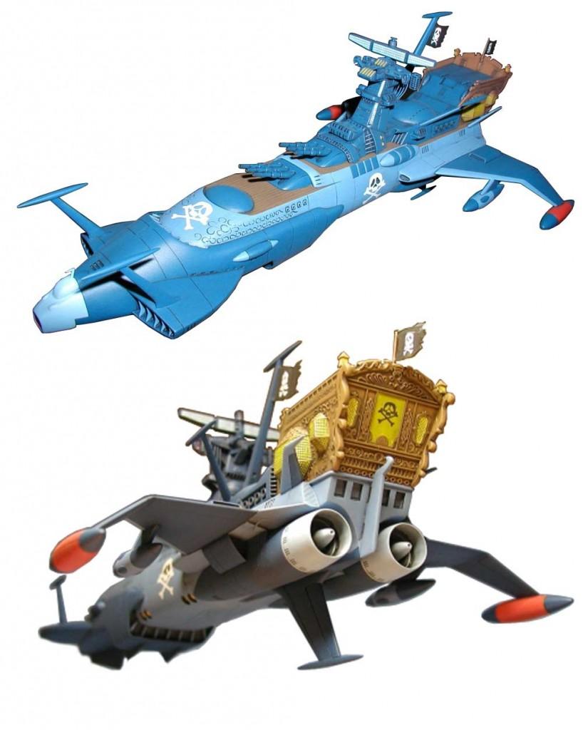 Cette maquette de l'Atlantis d'Albator 78 a été réalisé par un fan et respecte bien les proportions de la série TV