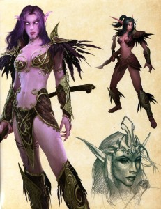 Page 25 de l'art book : The Art of World of Warcraft