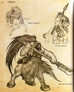 Page 48 de l'art book : The Art of World of Warcraft