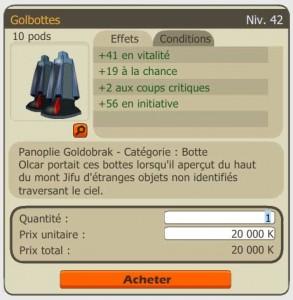 Golbottes du jeu Dofus sont une copie des pieds de Goldorak