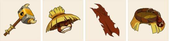 La panoplie de Percimol dans le jeu vidéo Dofus