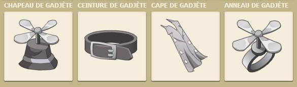 Un panoplie inspirée par l'inspecteur Gadget est disponible dans le jeu vidéo Dofus