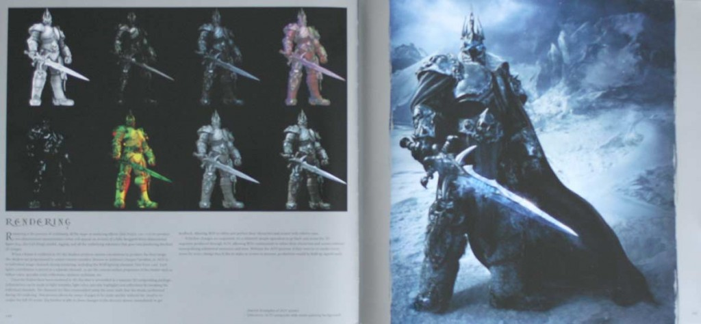 La problématique de la 3D est très soigneusement détaillée (page 144 de l'art book The Cinematic Art of Warth of the Lich King)