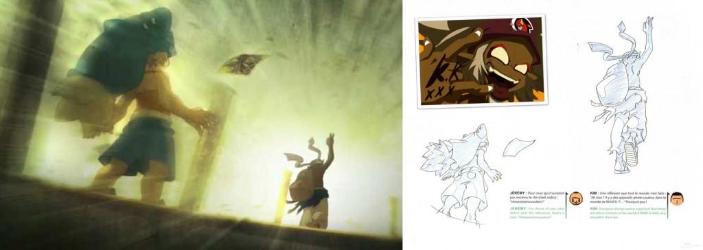 Cette scène où Kriss dit au revoir à Yugo est un clin d'oeil au jeu Street Fighter 2 (Wakfu)
