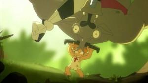 Goultard jette le taure dans les airs
