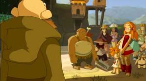 Le doyen du village veut chasser Cabotine et Goultard