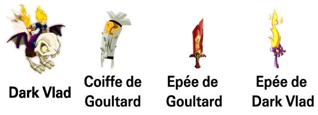 Armement de Goultard dans Dofus