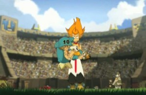 Tristepin porte Yugo et la Boufballe jusqu'au but adverse