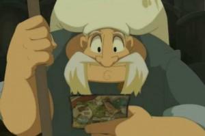 Alibert lit la carte postale de Yugo