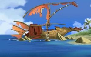 Le bateau s'est échoué sur l'île de Moon