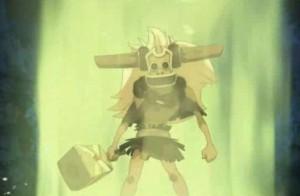 Saule devient invincible grâce au marteau magique