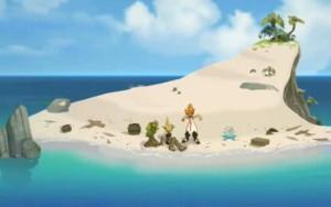 L'île où ils ont échoué est miniscule