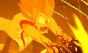 Tristepin arrive à dévier les flammes du dragon avec son épée