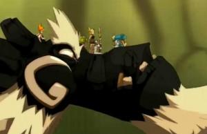 Le dragon emporte Yugo et ses amis pour affronter Nox