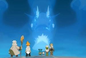 Grougaloragran explique la situation à Yugo et ses amis