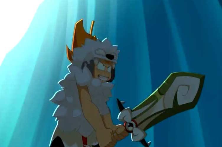 Tout à coup Tristepin change de style de combat et transforme Rubilax en épée à deux mains