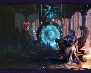 La reine Azshara devant le puits d'Eternité