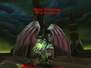 Illidan dans World of Warcraft attendant les joueurs