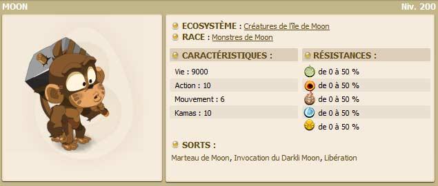 Le singe Moon dans le jeu vidéo en ligne Dofus