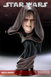 Photo du buste de Darth Sidious (l'empereur de Star Wars) par Sideshow Collectibles