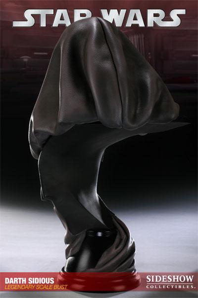 Photo du buste de Darth Sidious (l'empereur de Star Wars) par Sideshow Collectibles