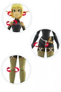 Présentation des articulations de la figurine d'Evangelyne de Wakfu