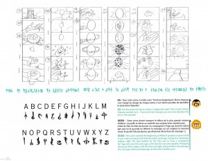 On retrouve même une transcription de l'Alphabet Dragonique (Page 26 du Tome 1 de l'art book de Wakfu)