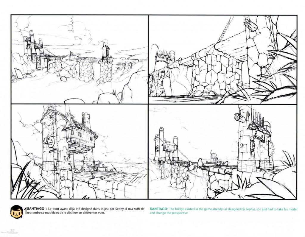 Recherche décor (Page 32 du Tome 1 de l'Art Book Wakfu)