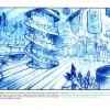 Croquis de recherche du magasin de Kabrok (Page 18 du Tome 2 de l'Art Book de Wakfu)