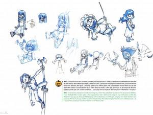 Les enfants Zombies de l'épisode 4 (Page 16 du Tome 3 de l'Art Book de Wakfu)