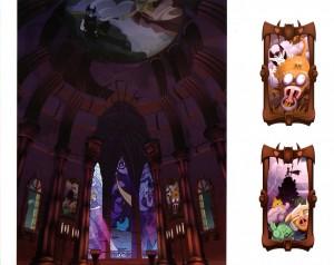 Le château de Vampyro regorge de détails (Page 42 du Tome 3 de l'Art Book de Wakfu)