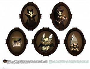 Le château de Vampyro regorge de détails (Page 44 du Tome 3 de l'Art Book de Wakfu)