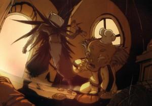 Le Corbeau Noir vole la carte magique à Ratafouine