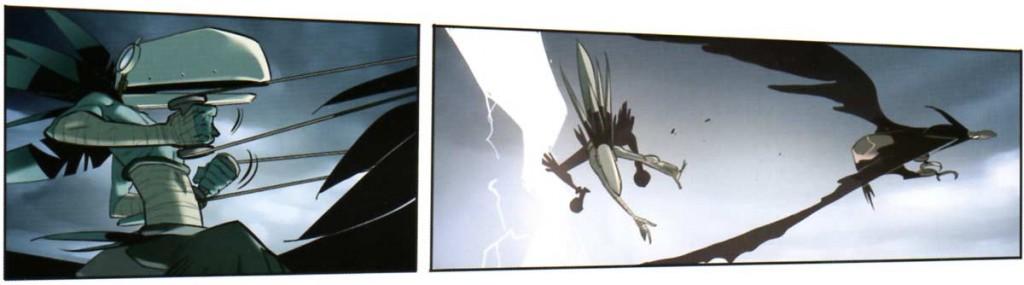 Le Corbeau Noir a un design similaire à la série TV
