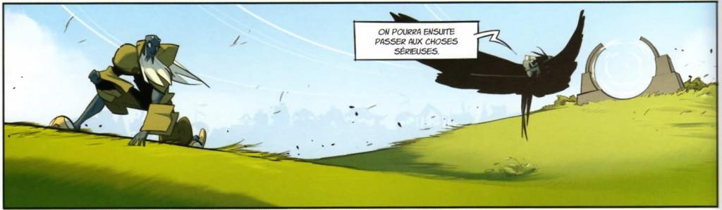 Le Corbeau Noir enlève Miranda