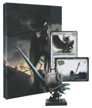 La Box collector est fournie avec un figurine, une version collector de la BD, Une carte TCG Wakfu et un code pour avoir une arme dans Dofus