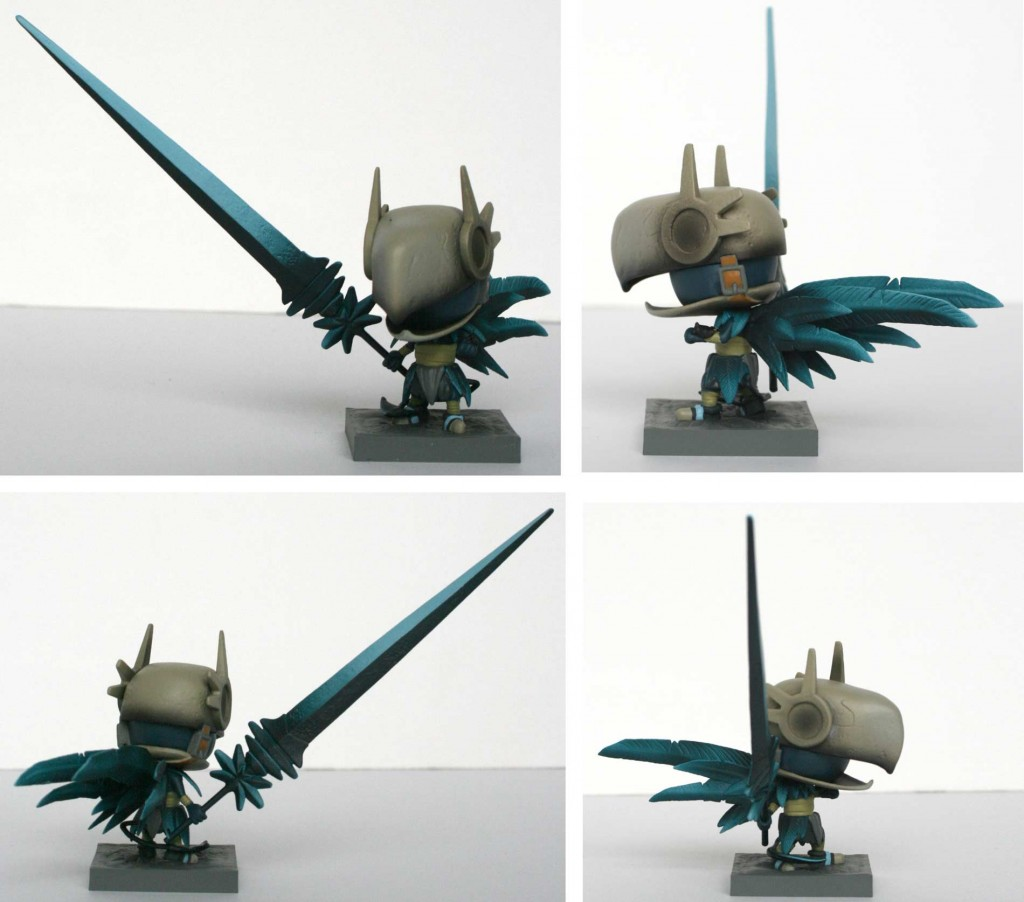 Wakfu Heroes 1 - figurine SD du Corbeau Noir (Turn over)