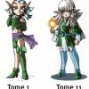 Shimy comparaison design (Les Légendaires)