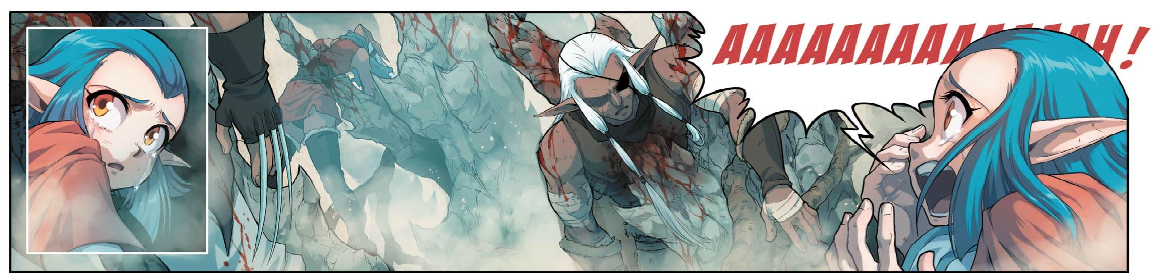 Shimy a tué l'elfe noir qui l'attaquait