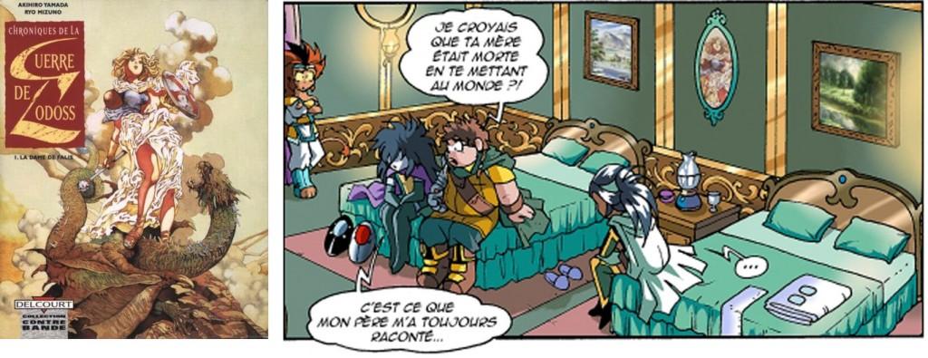 L'image du tableau central est tiré d'un manga sur Les Chroniques de la guerre de Lodoss