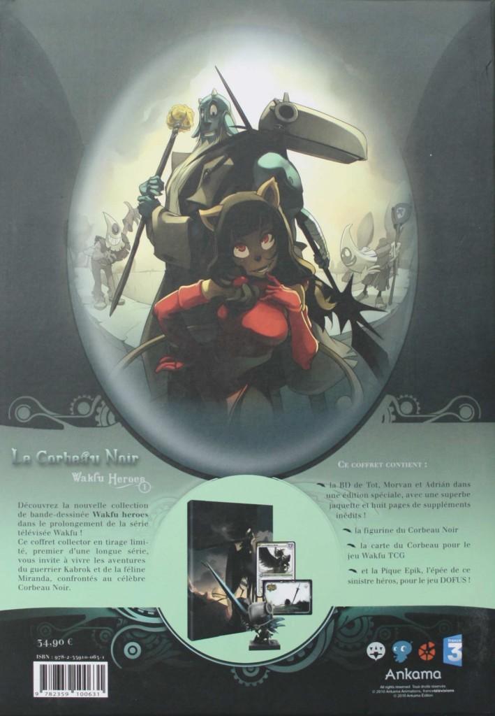 Packaging de la Box collector Wakfu Heroes 1 - Le Corbeau Noir (face arrière)