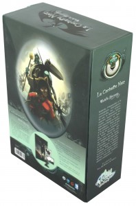 Packaging de la Box collector Wakfu Heroes 1 - Le Corbeau Noir (plongée dos)