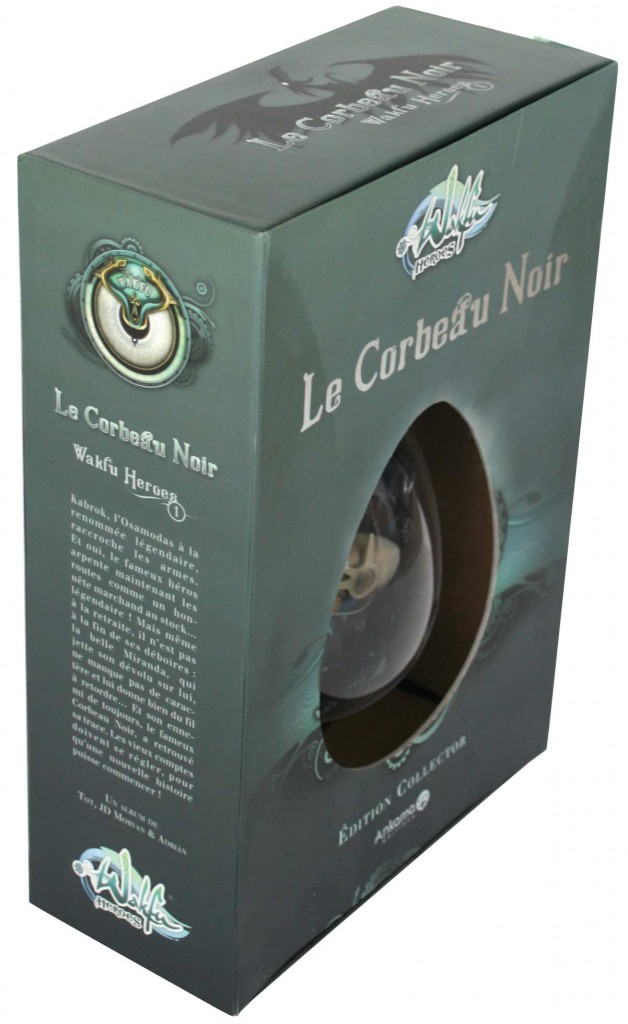 Packaging de la Box collector Wakfu Heroes 1 - Le Corbeau Noir (plongée face)
