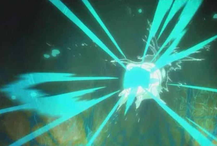Igôle attrape l'Eliacube et reçoit une décharge d'énergie (Wakfu)