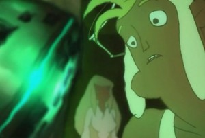Galante s'inquite de l'effet qu'a l'Eliacube sur Nox (Wakfu)